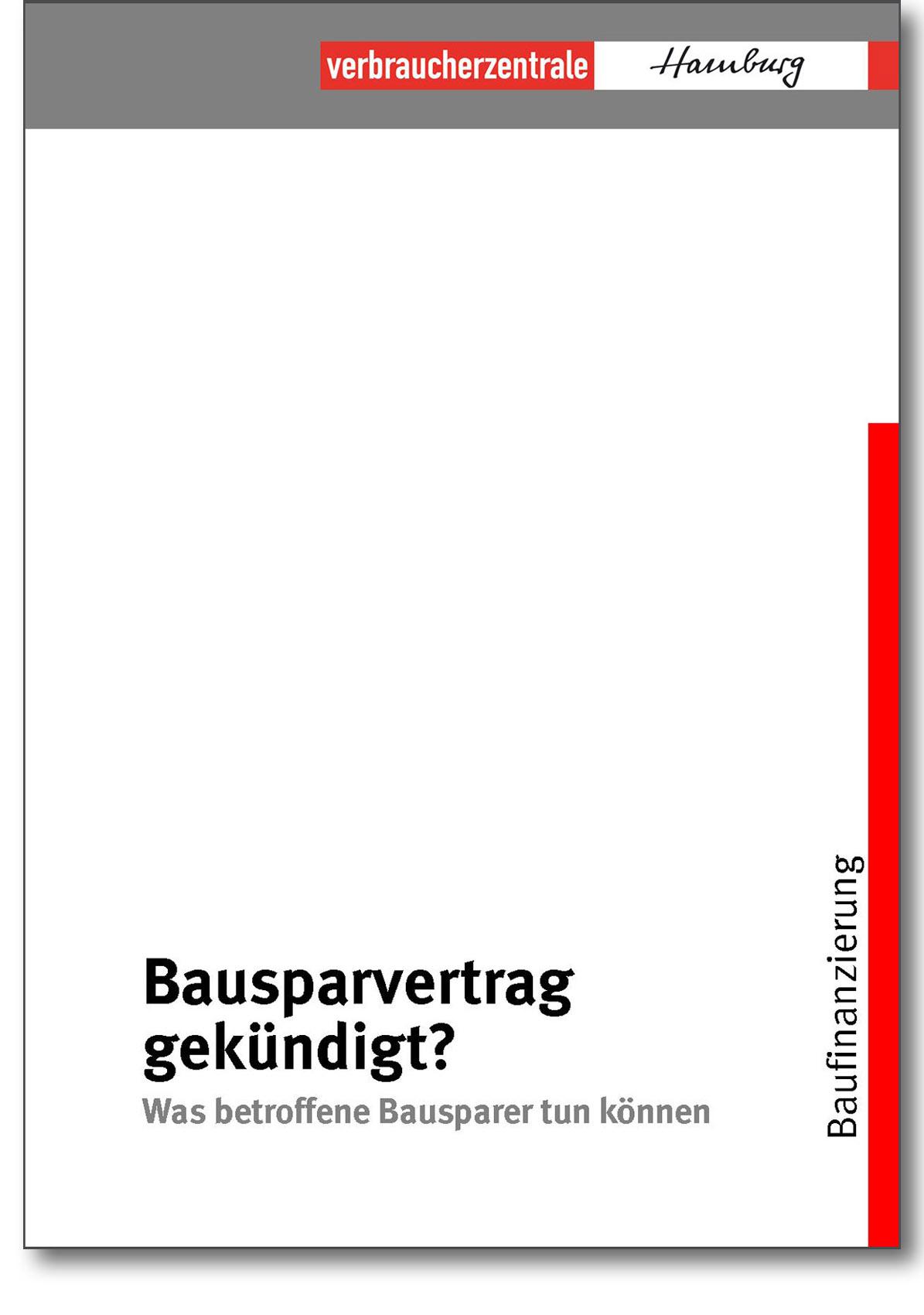 Broschüre - Bausparvertrag gekündigt - Verbraucherzentrale