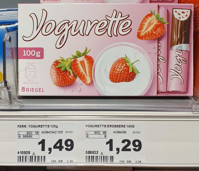 Yogurette Preis