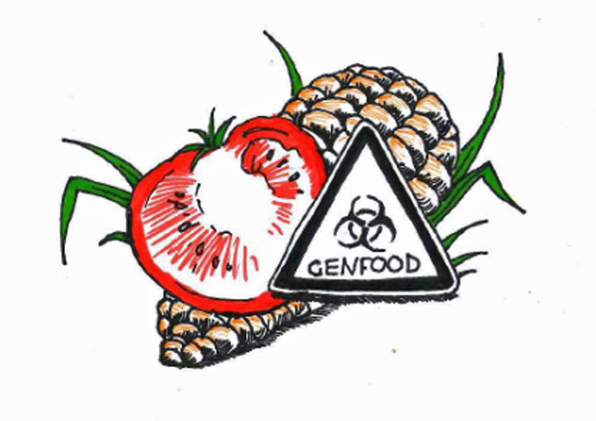 Illustration für Genfood