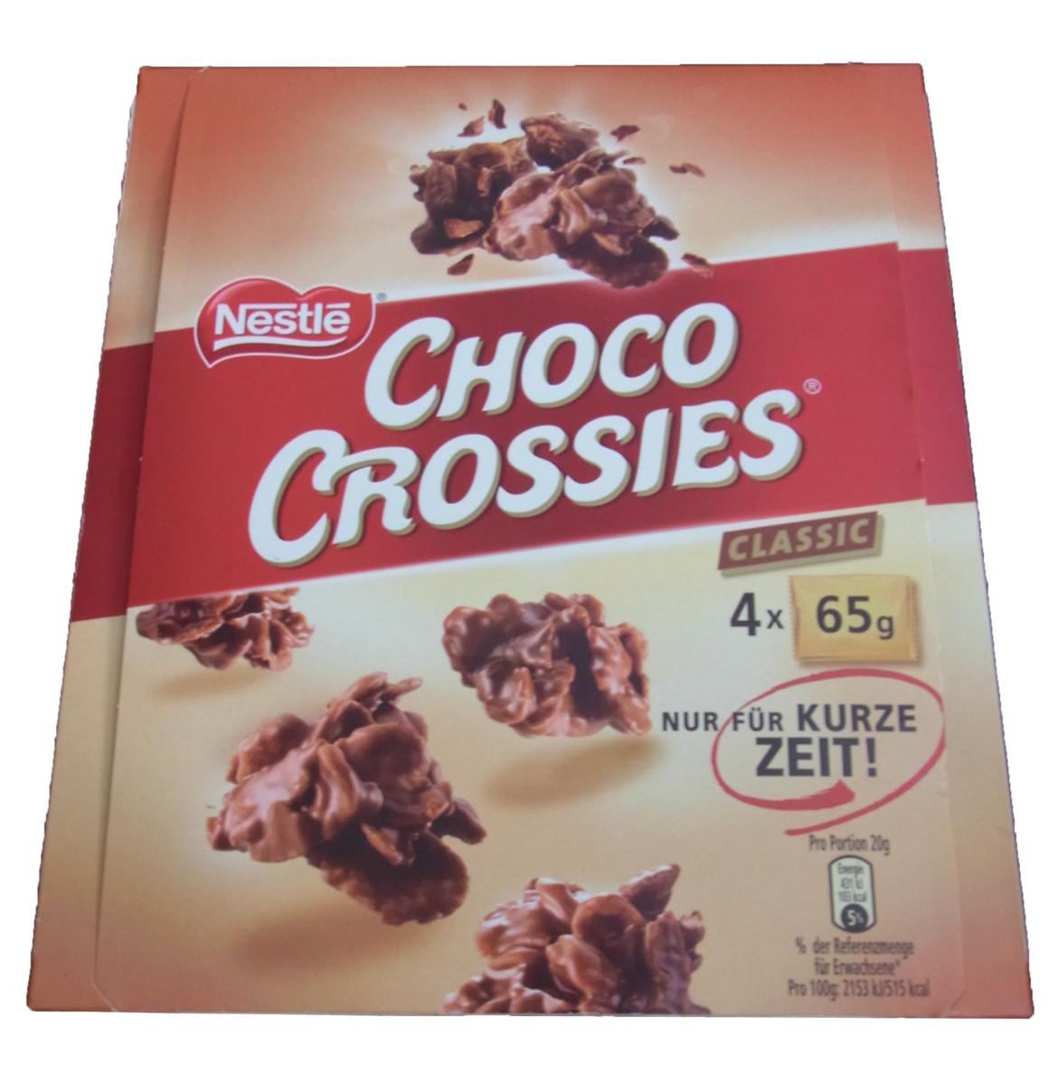 Eine Packung Nestle Choco Crossies XXL
