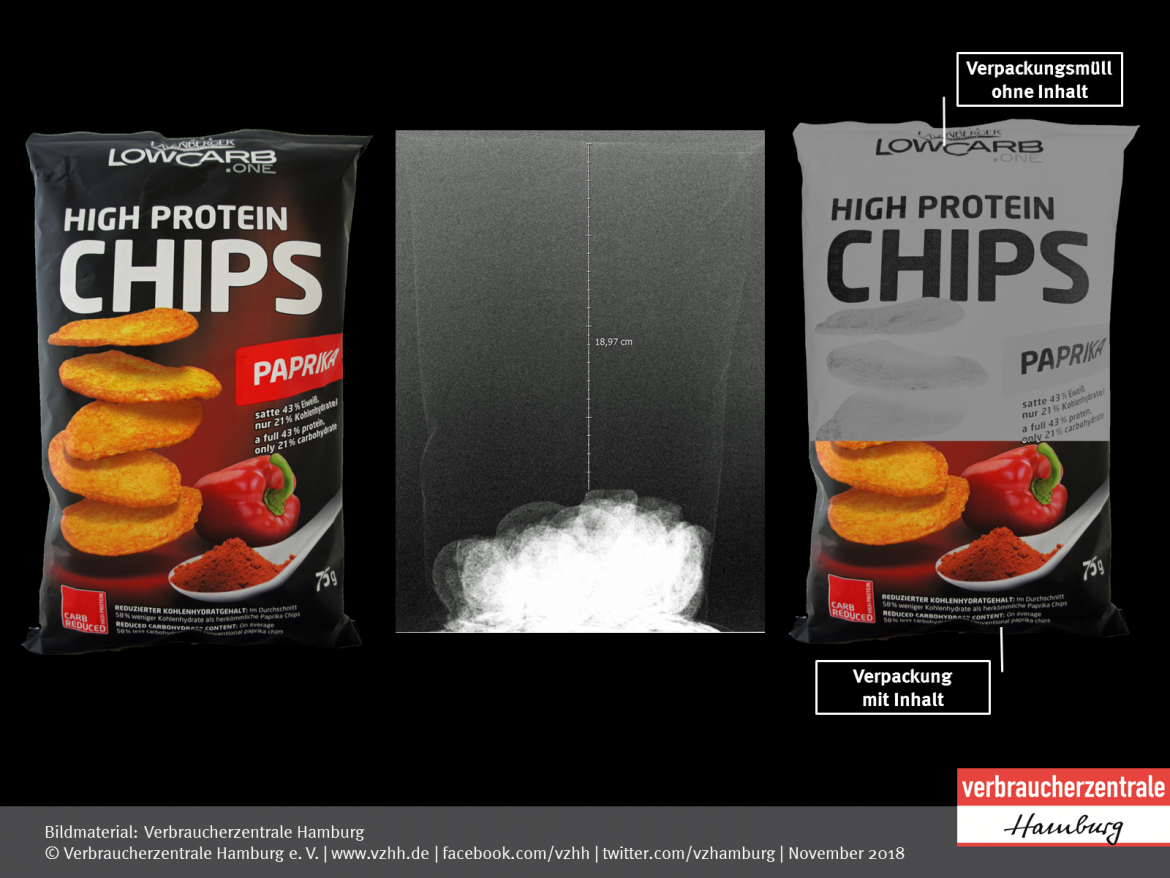 Luftpackungen: Low Carb High Protein Chips Paprika von Layenberger Nutrition (2018)