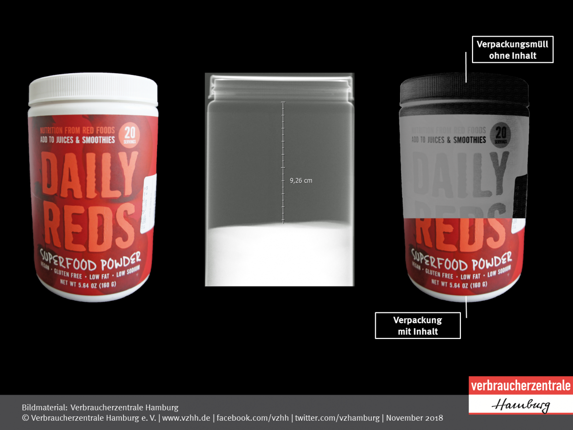 Luftpackungen: Daily Reds Superfood Power 360 Nutrition (2018)