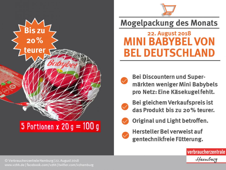 fakten zur mogelpackung des monats 0818 weniger drin bei babybel mini - Irrefuhrende Werbung Beispiele